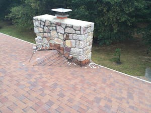 leaky stone chimney before repair