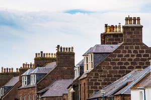 Many well repaired chimneys