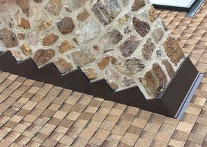 Chimney flashing done right to keep water out.